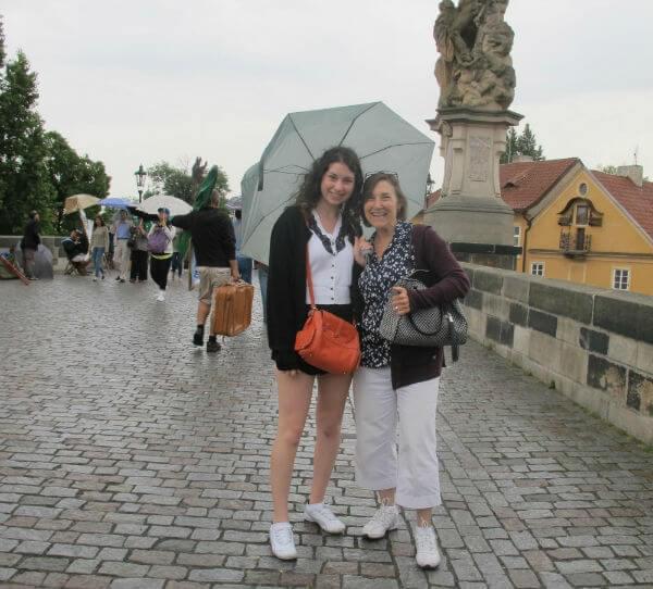 On the Charles Bridge in Prague