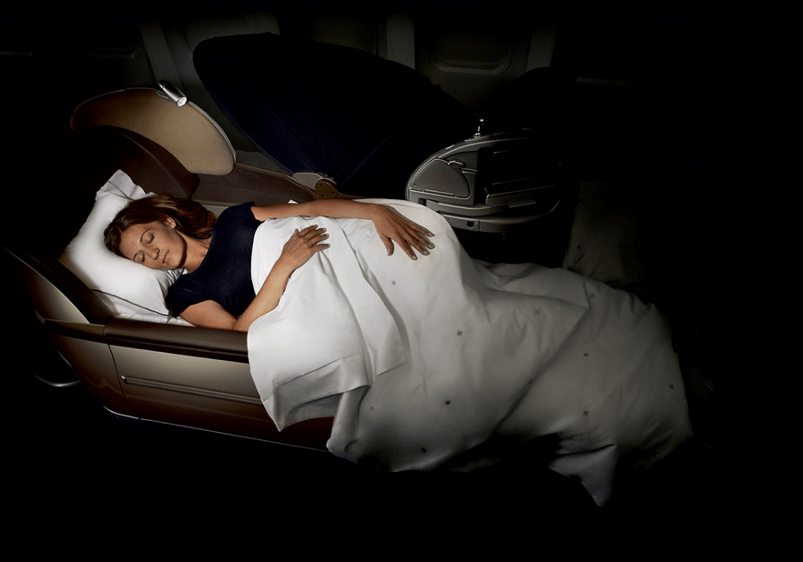 Boeing 757-200 business class bed