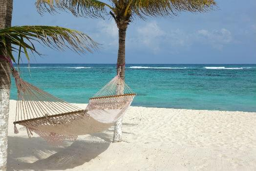 Idyllic beach in Cancun, Mexico