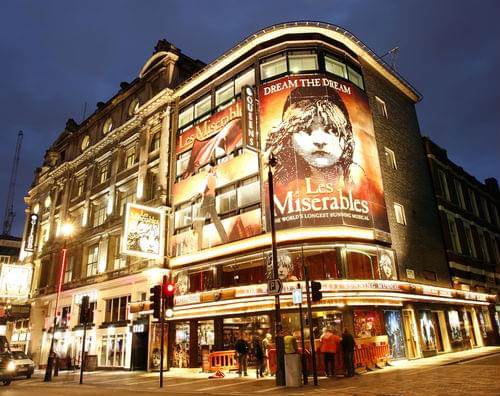 London's West End theater district
