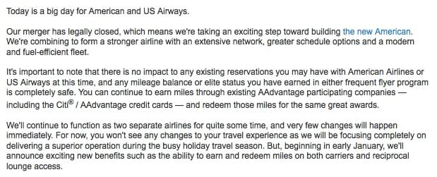 The American Airlines and US Airways Merger Effect