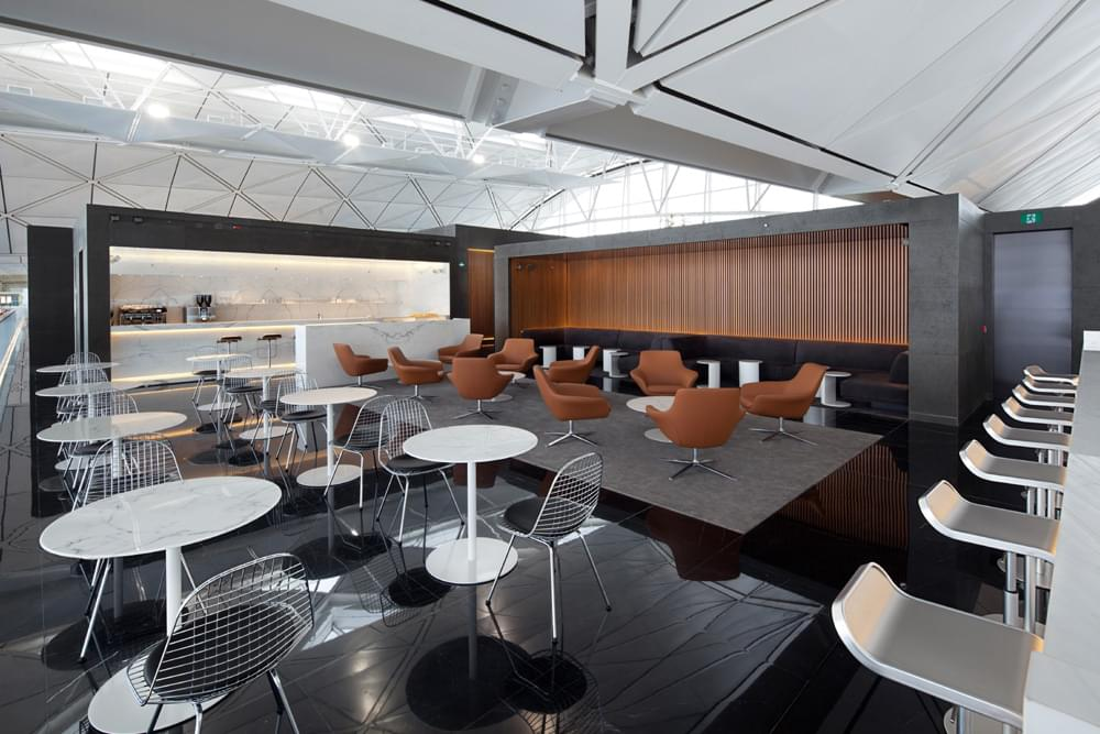 The Wing lounge of Cathay Pacific