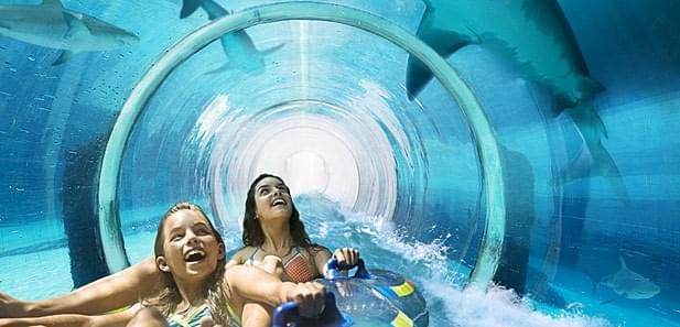 Mayan Temple Shark Lagoon, Atlantis Resort