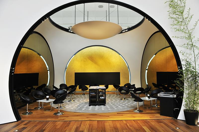 The arched doorways of the Turkish lounge.