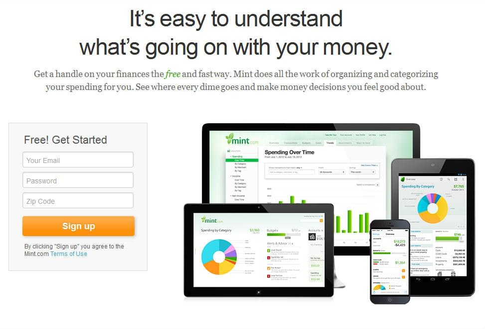 Budget planner Mint can be used to track spend