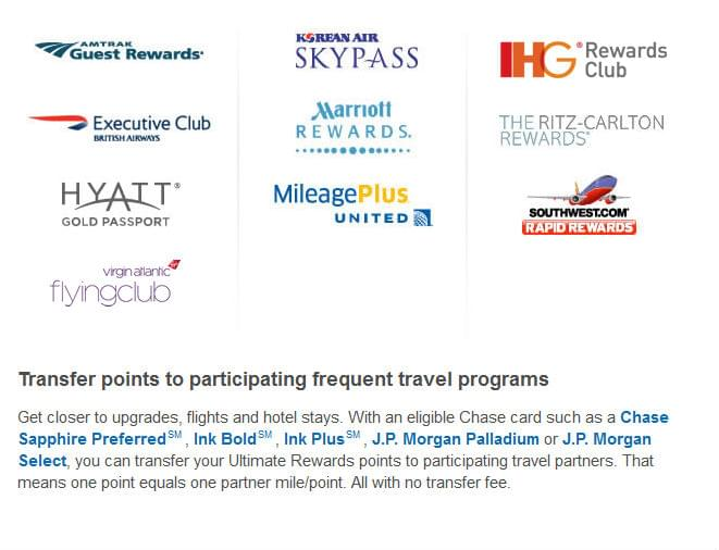 You can transfer your points to these loyalty programs