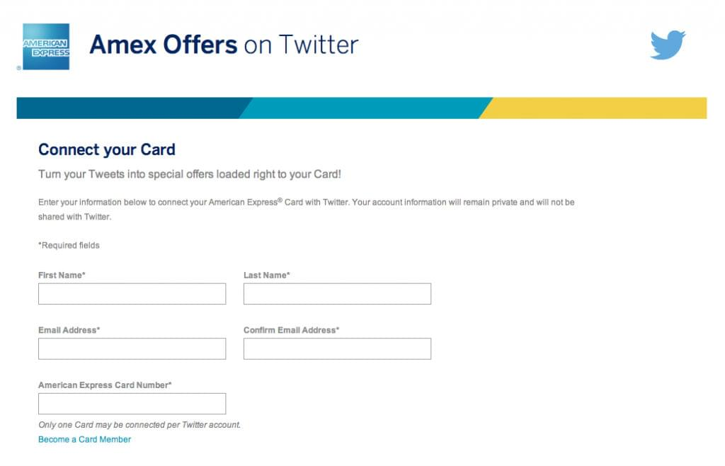 Connect your card with AmEx offers