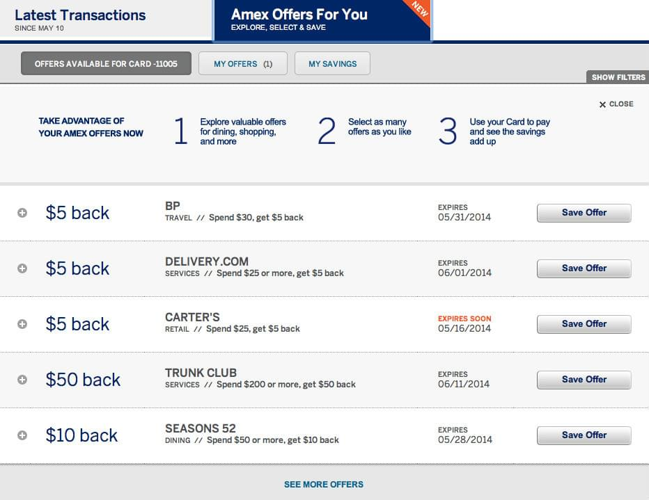 Am Ex Login >> Sign Up For Amex Offers And Save Big