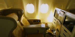 Flat-Bed Seats on Transcon Flights Ease the Jet Lag
