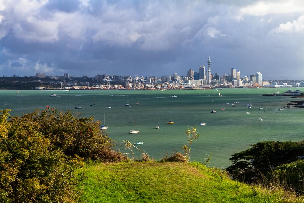 View on Auckland central business district