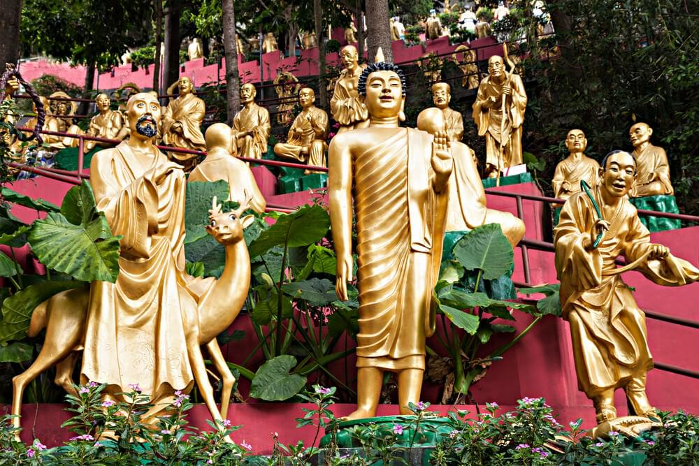 Ten Thousands Buddhas Monastery in Hong Kong
