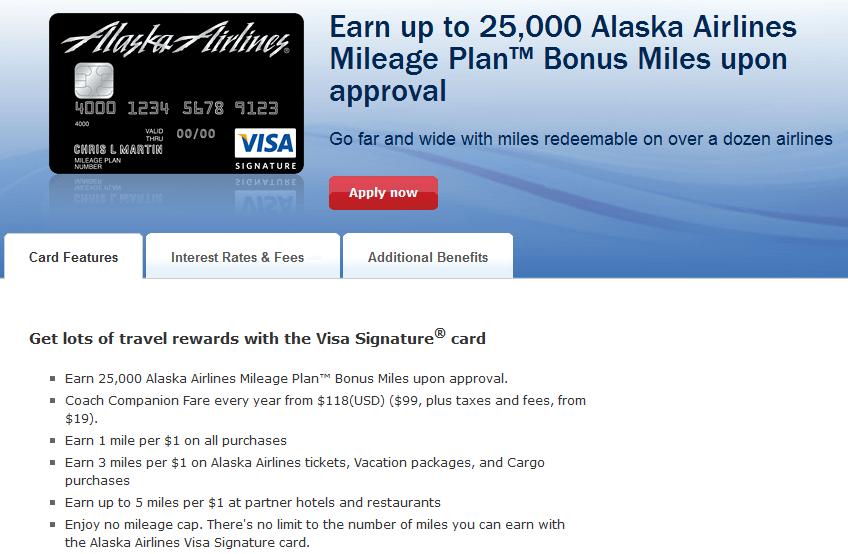 Alaska Airlines Visa Signature
