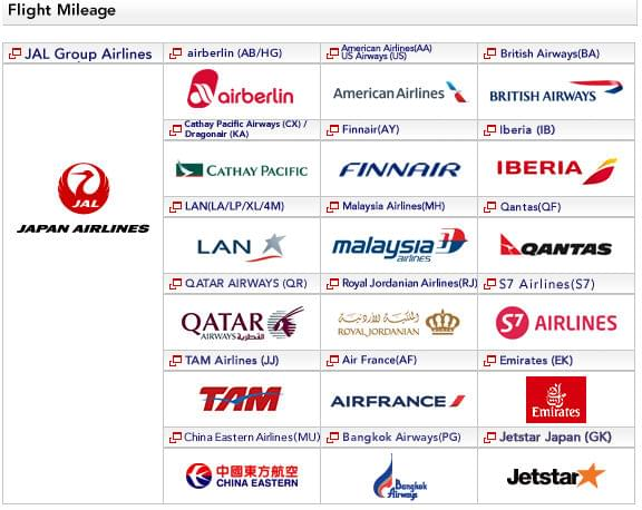 Japan Airlines airline partners