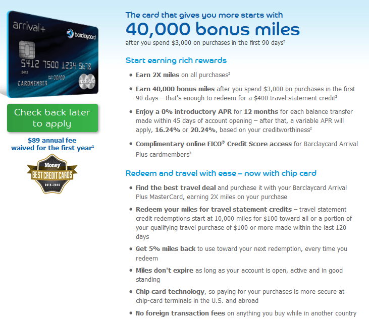 A 40,000 point bonus and double miles