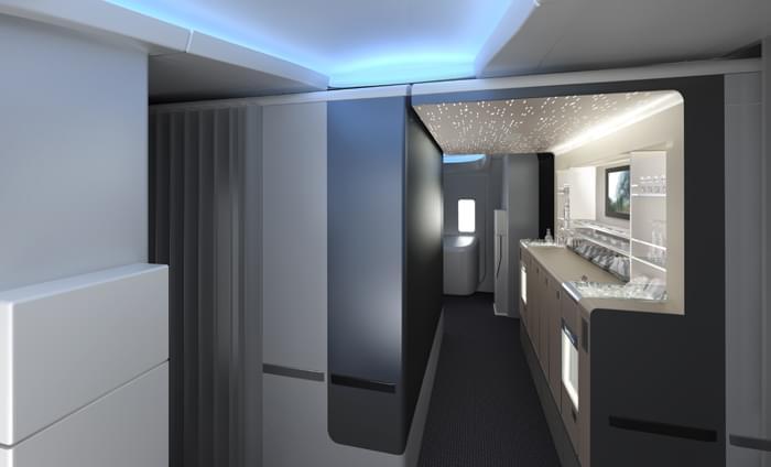 Boeing 777-300ER Premium Cabin Bar