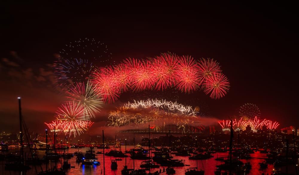 Fireworks on Christmas Eve
