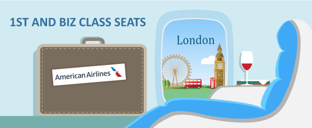 Business or First Class to London with AAdvantage Miles