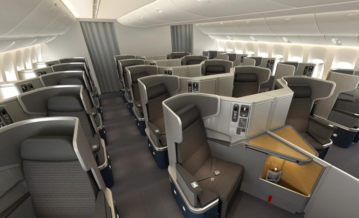 American Airlines 777-200ERs business class seats