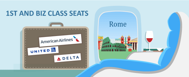 Flying Premium Class to Rome