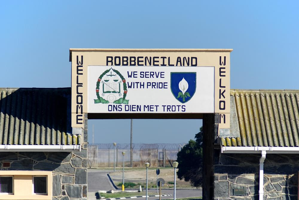 Robben Island Prison where Nelson Mandela was held.