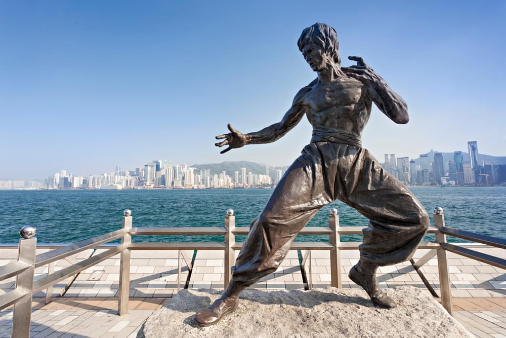 Bruce Lee statue at the Avenue of Stars, Hong Kong