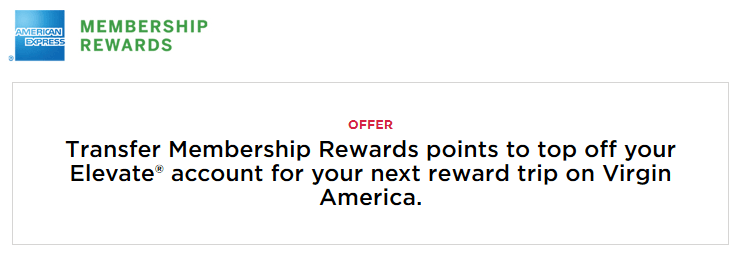 Transfer your points to AmEx