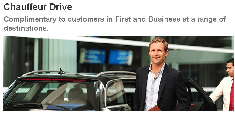 Qantas free chauffeur service