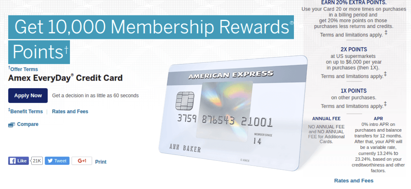 Amex EveryDay Credit Card Review