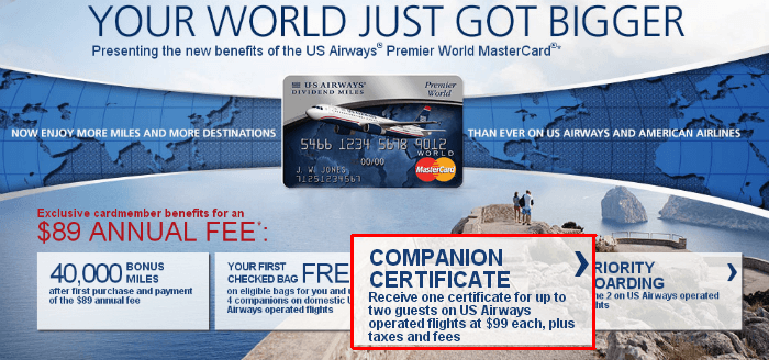 The companion certificate is just one of the perks of this card