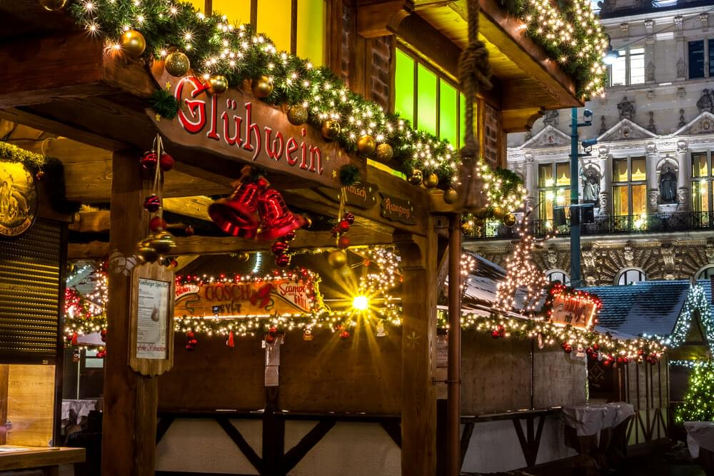 Christmas market in Hamburg, Germany