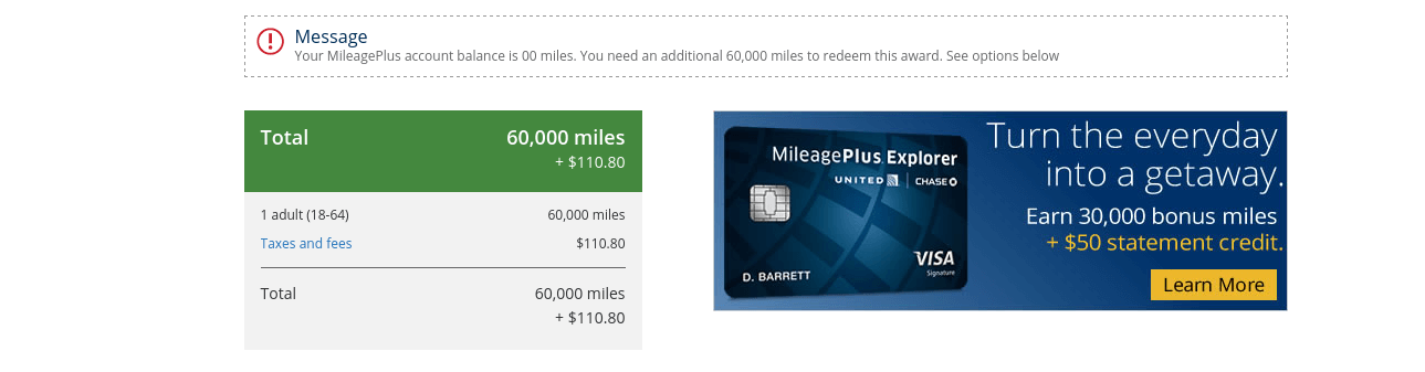 Confirm and Book United MileagePlus Award Flights Online