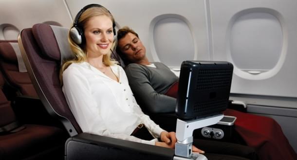 Qantas premium seat