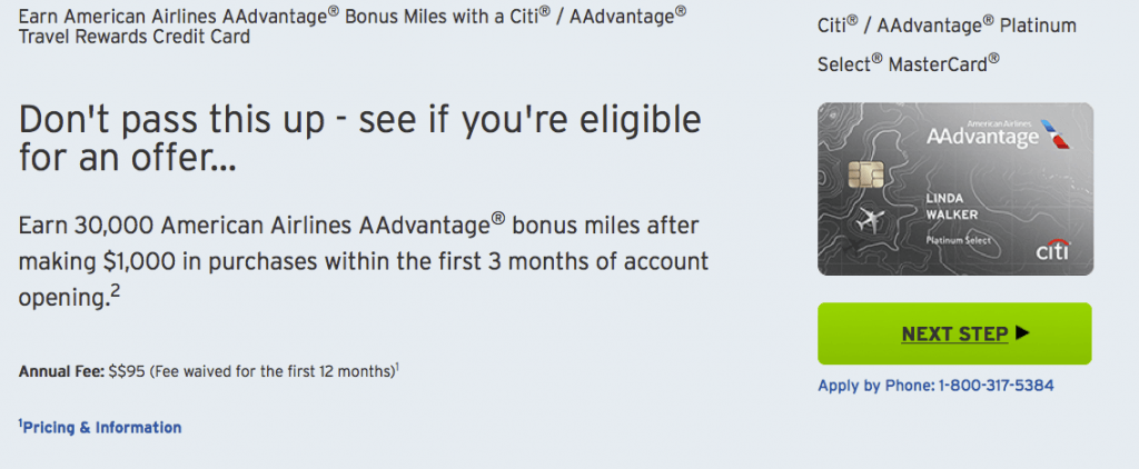 Citi / AAdvantage Platinum Select MasterCard