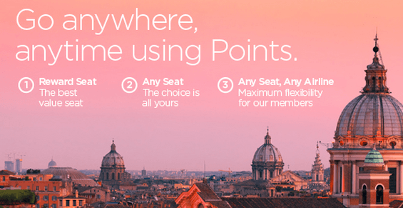 Redeem points for any free seat on a flight