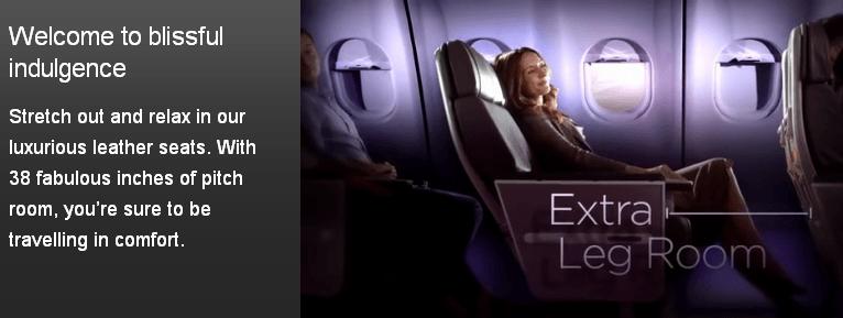 Virgin Atlantic premium economy class