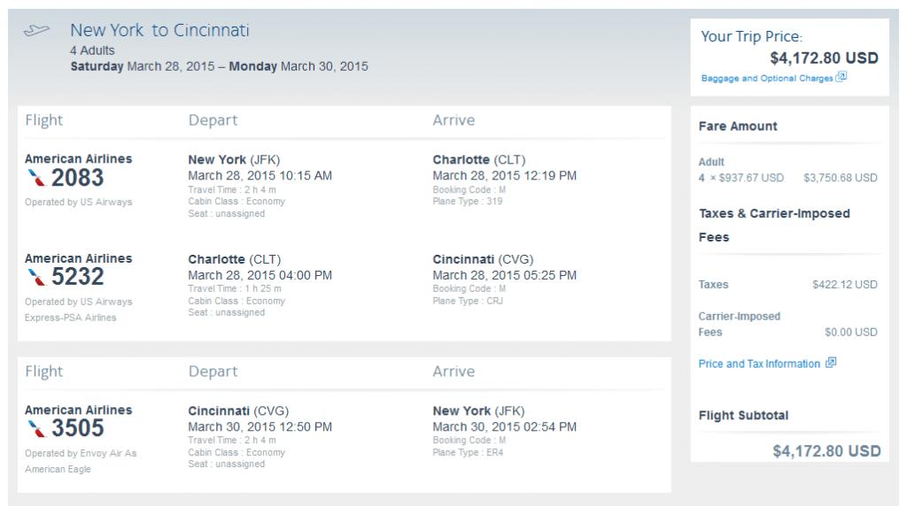 NYC Cincinnati details