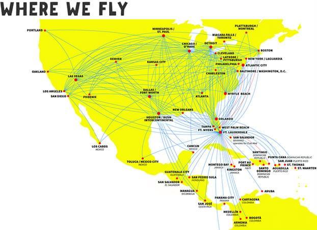 Spirit-Airlines-Routes