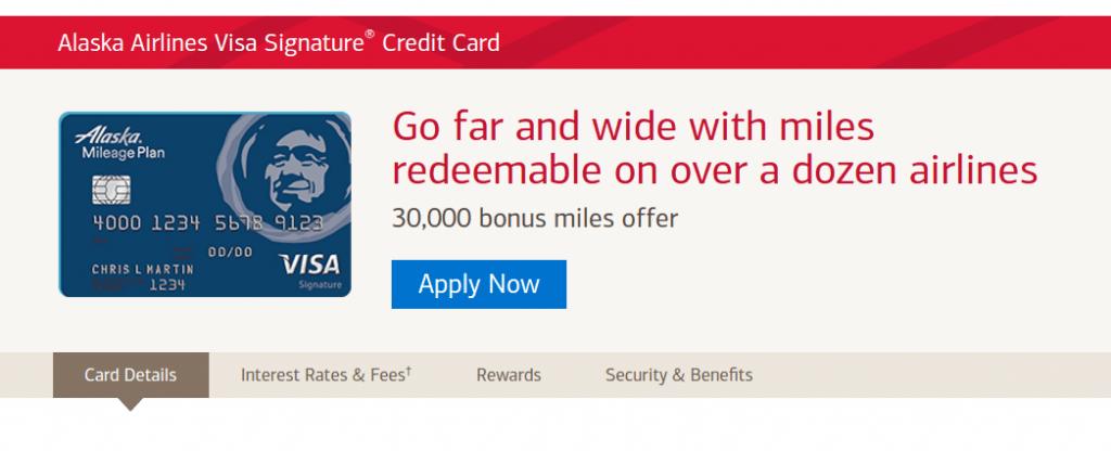 Alaska Airlines Visa Signature credit card sign-up bonus