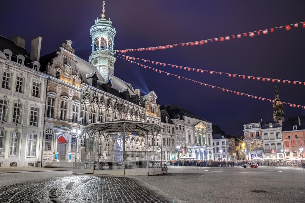 Mons Town Hall and central square