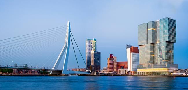 Erasmus Bridge, River Meuse, Rotterdam