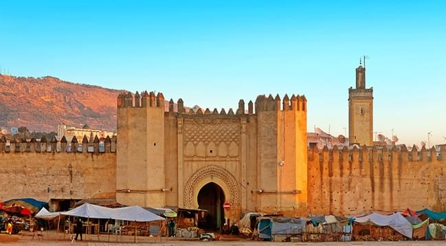 Gate to ancient medina of Fez