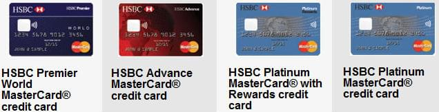 HSBC cards with chip-and-PIN technology
