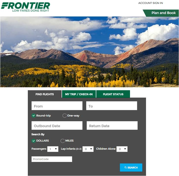 Frontier - Sign In