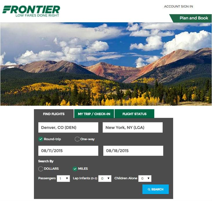 Frontier-Booking-Form