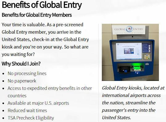 Global Entry member benefits