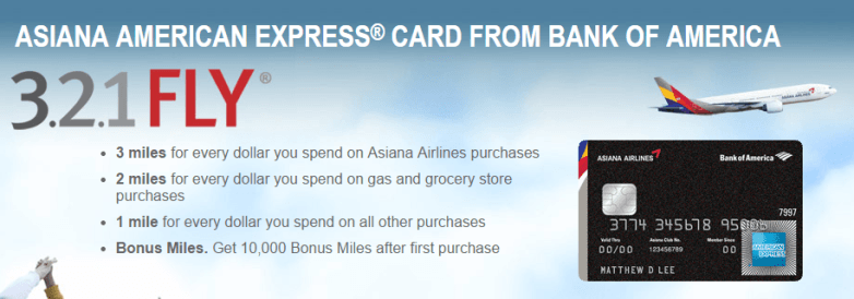 Asiana Airlines American Express Card from Bank of America