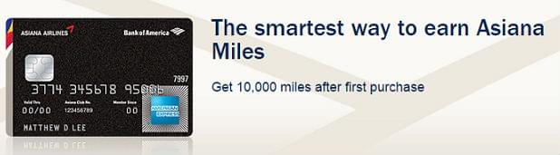 Asiana Airlines Amex sign-up bonus