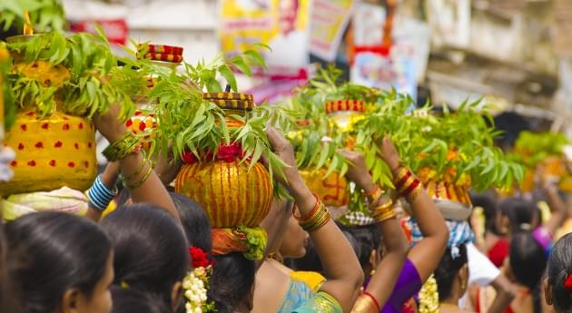 The famous Bonalu Festival in Hyderabad