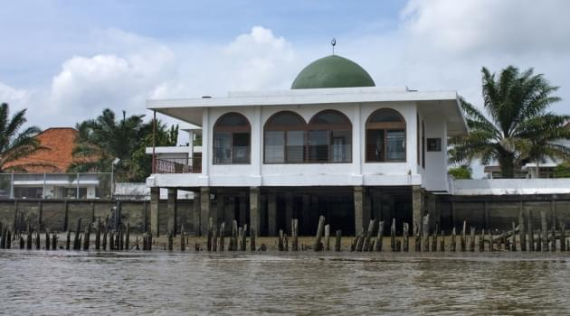 A small mosque on Musi River