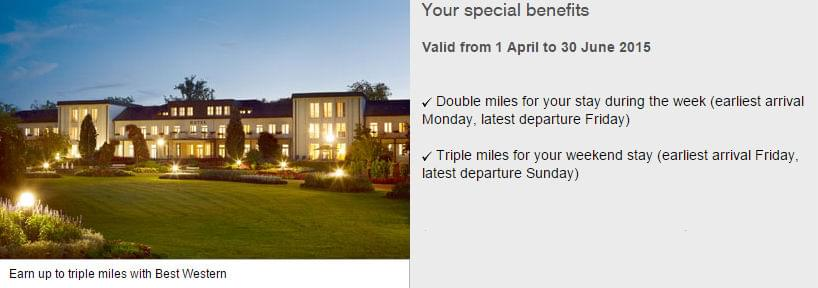 Stay at Best Western and earn bonus miles from Lufthansa